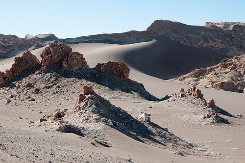 Woestijnlandschap in San Pedro de Atacama, Chili van