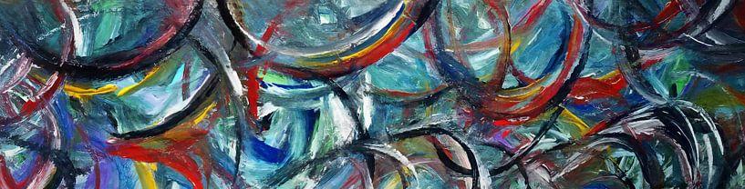 Abstrakte Komposition 667 von Angel Estevez