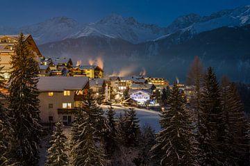 Evening picture of Serfaus - Austria sur