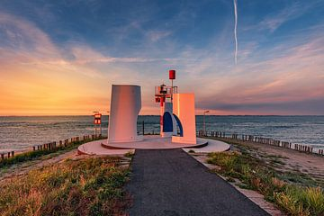 Die West-Schelde bei Sonnenuntergang von Dannis van der Heiden
