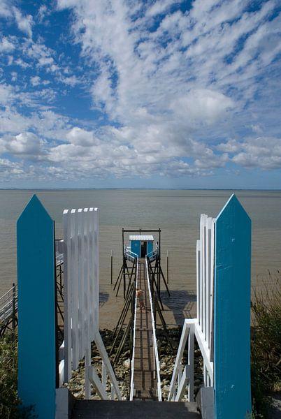 Blue horizon 1 van Birgitte Bergman