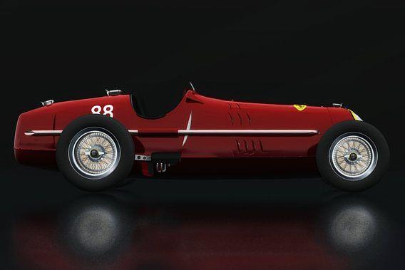 Alfa Romeo 8c uit 1935 Zijaanzicht