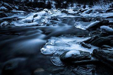 Gefrorener Fluss Isel - Umbaltal - Osttirol - Österreich