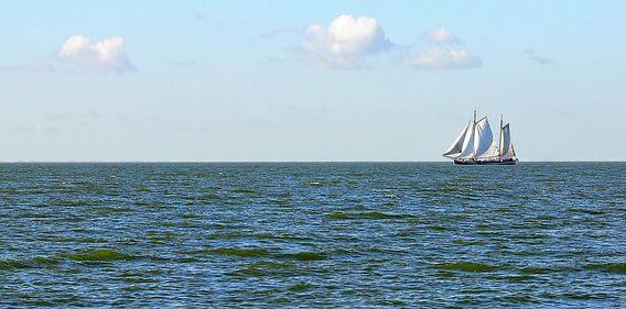 Zeilschip op het IJsselmeer.