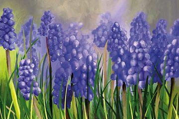 Traubenhyazinthen in Blau-Violett von Tanja Udelhofen