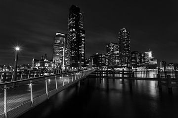 Rotterdam le soir sur Albert Mendelewski