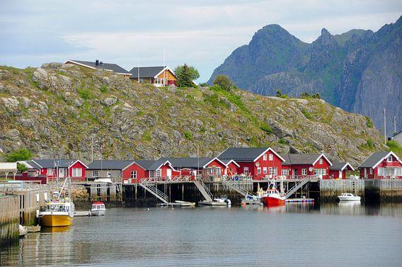 Noorse vissershuizen.