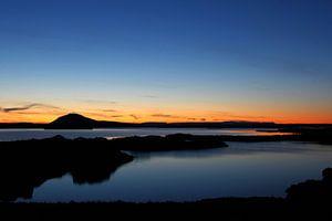 Sunset Myvatn Iceland