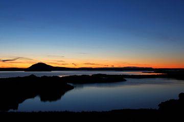Sunset Myvatn Iceland von