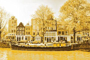 Jordaan Brouwersgracht  Amsterdamse Grachten Nederland Goud van Hendrik-Jan Kornelis