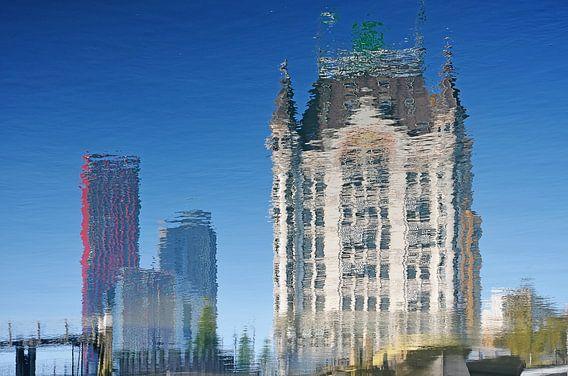 De Rode Appel en het Witte Huis, Rotterdam van Frans Blok