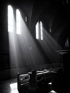 Lichtval door kerkramen