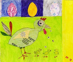 De kip en zijn eieren