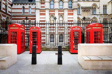 Telefooncellen in Londen van Johan Vanbockryck