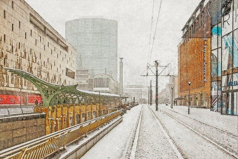 Winterbeeld Koopgoot van Frans Blok