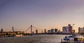 Rotterdam im Abendlicht von Fred Leeflang