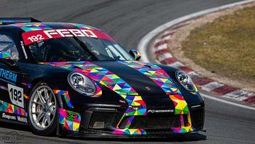 Porsche 911 GT3  op circuit Zandvoort. van Frank Van der Werff