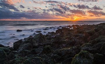zonsondergang bij het Windorgel, Vlissingen