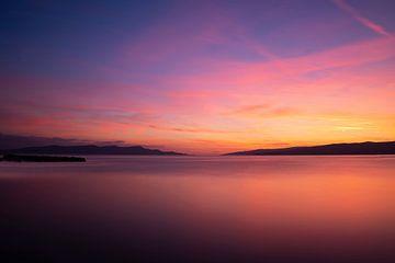 Sonnenuntergang an der dalmatinischen Küste
