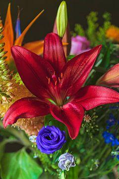 Bouquet floral coloré