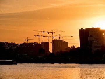 Sunset Skyline Rotterdam von 24 liquidmedia