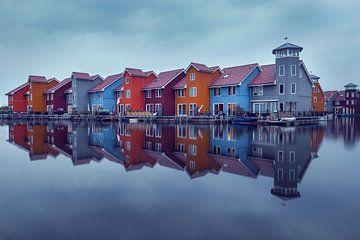 maisons colorées à Groningue sur
