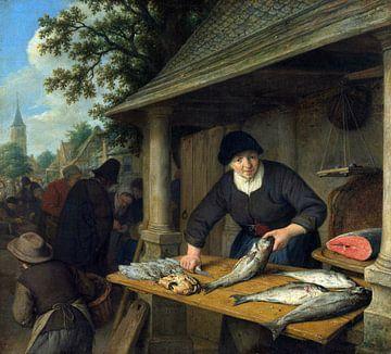 Die Fischverkäuferin, Adriaen van Ostade