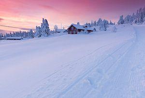 Zonsondergang in Lillehammer van