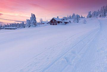 Zonsondergang in Lillehammer sur Rob Kints