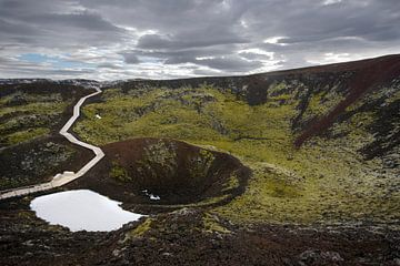 Vulkaankrater van René Wolters