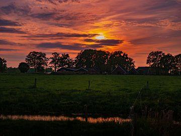 Sonnenuntergang in Twente von Maico.O