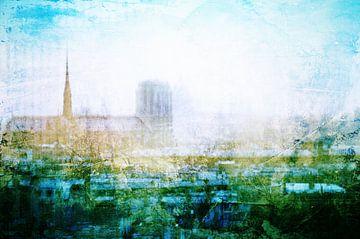 Parijs in het ochtendlicht #01 van Peter Baak