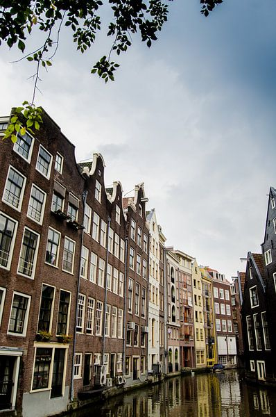 Amsterdamse herenhuizen aan de gracht