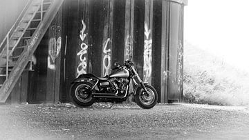 Harley Davidson Motor van Kuifje-fotografie