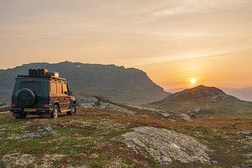 Offroad-Sonnenuntergang Jagd von Robert de Boer