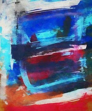 Abstracte samenstelling 1025 van Angel Estevez