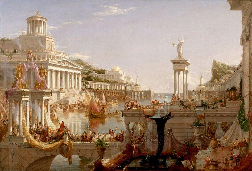 Die Vollendung des Imperiums, Thomas Cole von Meesterlijcke Meesters