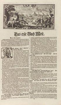 Schöpfungsgeschichte, BIBLIA GERMANICA, Tübingen, 1730 von Atelier Liesjes