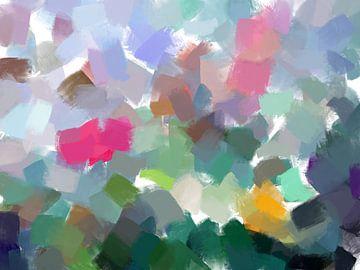 abstracte compositie in aquarel van Paul