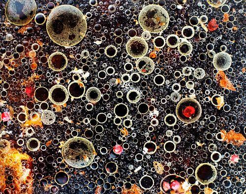 Assorti van azijn en olie,  gemengd, close-up