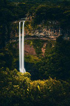 De Chamarel waterval op Mauritius van Jan Wehnert