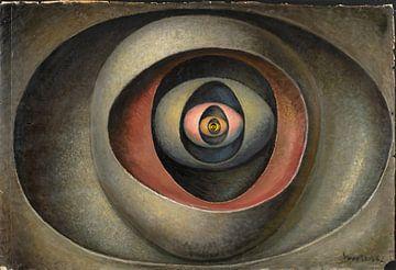Abstract kunstwerk, Oog in het ei van Atelier Liesjes