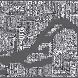 Rotterdam plattegrond van Districto Prints
