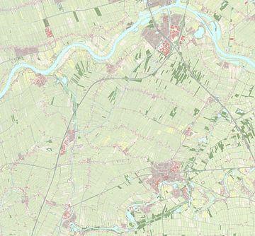 Kaart van Vijfheerenlanden