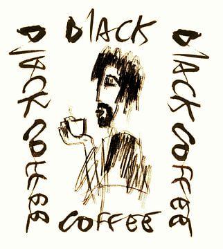 Zwarte koffie koffie van sandrine PAGNOUX