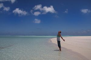 Man in paradise, Cook Islands van