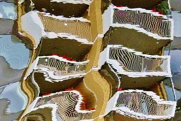 Balkonnen in spiegelschrift. van Lex Boon