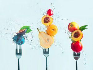 Het maken van fruitsalade, Dina Belenko