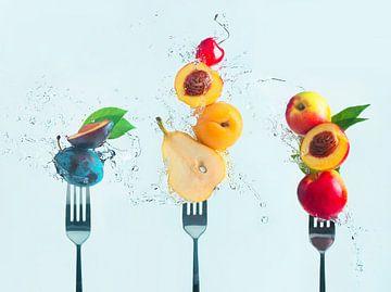 Het maken van fruitsalade, Dina Belenko van 1x