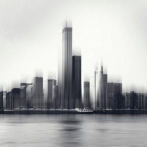 Rotterdam Skyline Abstract van